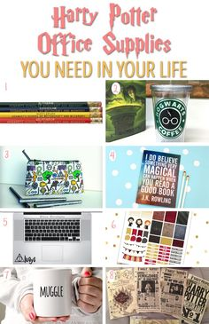 Harry Potter Office Supplies! These fun pencils and decorations are perfect for potterheads and book lovers! This gift guide will fit any college student!