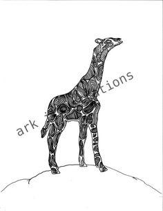 Giraffe by Erica Reyna. $20.00