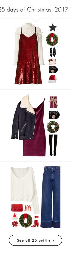 """""""25 days of Christmas! 2017 """" by genesis129 ❤ liked on Polyvore featuring Cinq à Sept, Ashish, Dsquared2, Christmas, ChristmasSeries, 25daystillchristmas, Acne Studios, Christian Louboutin, Improvements and Rachel Comey"""