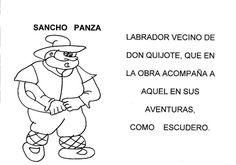 Hoy empezamos a leer y colorear nuestro librito de los personajes de Don Quijote de la Mancha.    A falta de la portada que estoy haciendo, ...