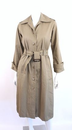 Vintage 70's YVES SAINT LAURENT Safari Trench Coat at Rice and Beans Vintage