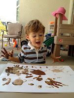 Sensory painting- painting with spices