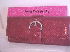 'Mundi Glitter Snake Red Buckle Wristlet' is going up for auction at 11am Fri, Jan 10 with a starting bid of $8.