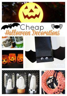 Inexpensive / cheap halloween decorations #halloween #decor