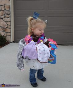 A Cute Load of Laundry - home made Halloween costume