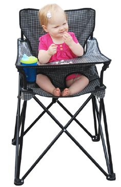 How perfect is this instead of hauling your highchair along!