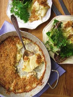 Yukon Gold and Celery Root Gratin.