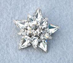 Layered Rhinestone Star Vintage Pin by HighClassHighway on Etsy