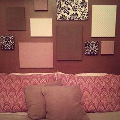 DIY-- easy fabric canvas wall art :) diy