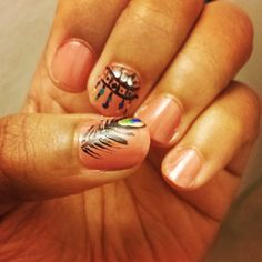 Peacock and Dreamcatcher nails