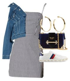 """""""Untitled"""" by whoiselle ❤ liked on Polyvore featuring Balenciaga, Jennifer Fisher, Gucci and Prada"""
