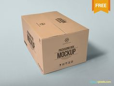 2 Free Packaging Box Mockups