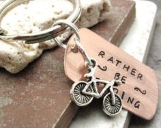 Bike Keychain It's not the destination its the ride by riskybeads