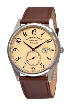 Men's Cuvette Classic Champagne Dial Watch by Stuhrling on @HauteLook