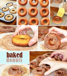 How to Make Homemade Baked Donuts @Cheryl Tidymom