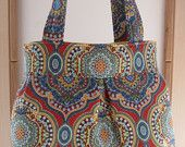 French Country, BOHO, Shoulder Pleated Handbag, Purse Ipad Netbook Tote  Made in USA Bohemian - pinned by pin4etsy.com