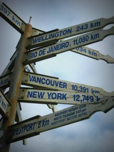 Cool sign post, New Zealand