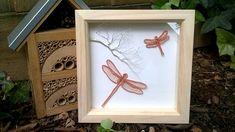 Wire Dragonflies Wall Art, Art Shadow Box Frame Decoration, Handmade Wire Wrapped Copper Dragonfly Branch Art, Dragonfly Home Gift Idea Handmade Shop, Handmade Crafts, Handmade Wire, Handmade Jewellery, Wooden Shadow Box, Shadow Box Frames, Dragonfly Wall Art, Branch Art, Etsy Uk