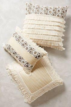 Fringed Ivory Pillow