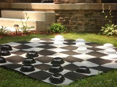 Outdoor checkers using bowls. Hostess with the Mostess® - Alice In Wonderland