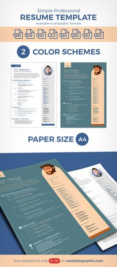 free-simple-resume-template-with-cover-letter-for-creative - simple professional resume template