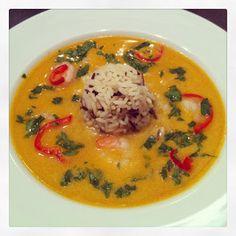 Lykkes Lækkerier: Thai-suppe med rejer og ris
