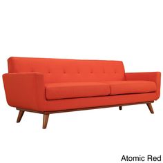 Engage 90.5-inch Cherry Wood Leg Sofa - Overstock Shopping - Great Deals on Modway Sofas & Loveseats