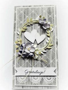 Wedding Cards Handmade, Wedding Tags, Mixed Media Cards, Marianne Design, Heart Cards, Baby Cards, Anniversary Cards, Making Ideas, Cardmaking