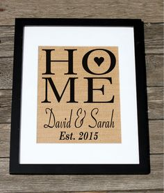 personalized home with heart our first home wall decor housewarming gift - Personalized Home Decor