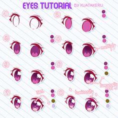 Claudine Whisman Eye Drawing Tutorials Chibi # Zeichnen # Tutorials - Eye Drawing T Eye Drawing Tutorials, Digital Painting Tutorials, Digital Art Tutorial, Art Tutorials, Drawing Tips, Drawing Techniques, Anime Tutorial, Eye Tutorial, Paint Tool Sai Tutorial