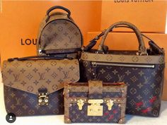 Reverse mono family pic😍if I could get my hands on an slg I would be set! Gucci Handbags, Louis Vuitton Handbags, Tote Handbags, Purses And Handbags, Louis Vuitton Monogram, Designer Handbags, Designer Bags, Lv Pochette Metis, Louis Vuitton Collection