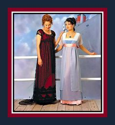 TITANIC ROSES GOWNS-Sewing Pattern-The Jump & Swim Dress-Empire Waist-Overbodice-Overskirt-Beautiful Embellishments-Uncut-Size 16-20-Rare by FarfallaDesignStudio on Etsy