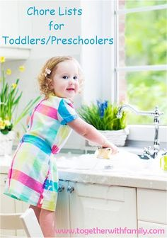 Chore lists for Toddlers/Preschoolers