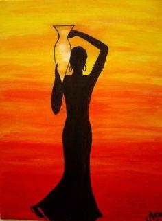 Punjab artwork of a women, India/Pakistan Pop Art, Images D'art, Afrique Art, African Art Paintings, Afro Art, Diy Canvas Art, African American Art, Oeuvre D'art, Female Art