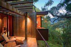 Se gosta de turismo ecológico e hotéis com quartos em cima de árvores, Big Sur, na Califórnia, é o local que procura. #casamento #luademel #BigSur #famosos