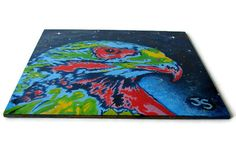 Hawks painting for sale 6x6 #acrylic