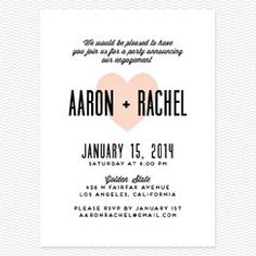 Heart in Hand Engagement Party Invitations