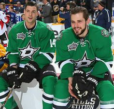 Jamie Benn and Tyler Seguin at the 2016 NHL All-Star Skills Competition