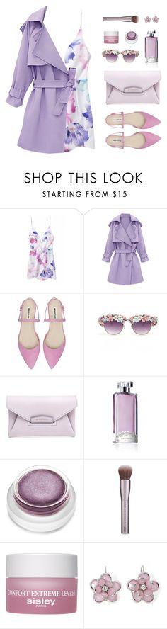 """Slip Dress"" by sweetpastelady ❤ liked on Polyvore featuring A-Morir by Kerin Rose, Givenchy, Guerlain, rms beauty, Urban Decay, Sisley Paris and Mixit"