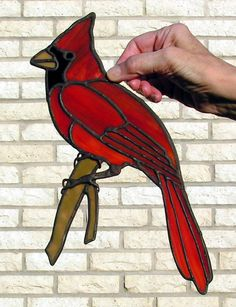 Opaque Stained Glass Cardinal