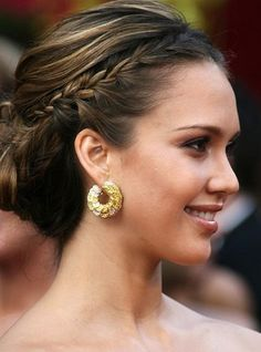 Celebrity One Sided Braid Hairstyle