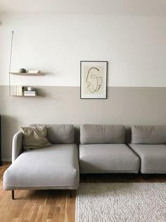 Farbfreude - Skandinavien Interior&Design - Paint Home Beige Living Rooms, Living Room Accents, Living Room Sofa, Living Room Interior, Wallpaper Harry Potter, Beige Walls, Beige Couch, Living Room Inspiration, Design Inspiration