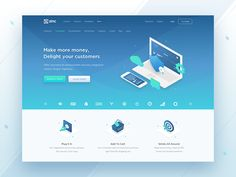 Hero Block for Landing Page designed by Anton Avilov for Anthony's Lab. Connect with them on Dribbble; the global community for designers and creative professionals. Landing Page Inspiration, Web Design Inspiration, Design Ideas, App Design, Layout Design, Logo Design, Ui Design Patterns, Landing Page Design, Site Web