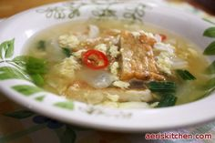 Fried Fish Cake & Egg Guk 어묵 계란국
