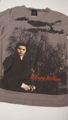 "Johnny Depp Sleepy Hollow Juniors Size Small T-shirt ""Giant"" #Giant #GraphicTee"