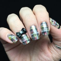 Plaid Pattern Nail Art | Polished Inka