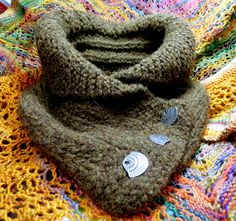I LOVE this shael collar cowl from 'Never Not Knitting'. Available at Ravelry. Knit in Cascade Baby Alpaca Chunky with a light felting.