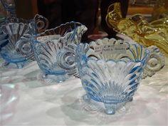 Cambridge Caprice blue depression glass