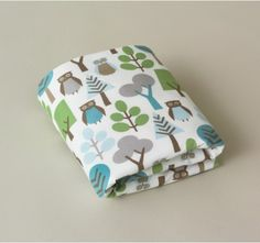 Dwell Studio Fitted Cot Sheet - Owls - Boys Cots - Brisbane Linen for babies - baby nursery and bedroom ideas