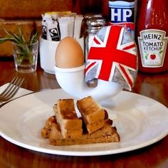 soft boiled egg with solders to dip....yum!
